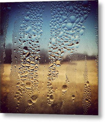 Through Glass 1 Metal Print by Natalie Lizza