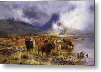 Through Glencoe By  Way To The Tay Metal Print by Louis Bosworth Hurt