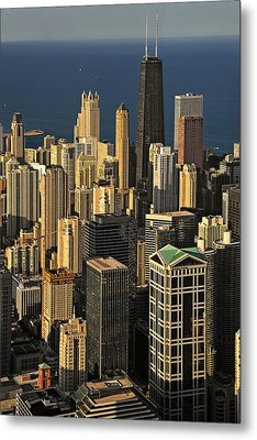 Through The Haze Chicago Shines Metal Print by Christine Till