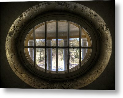 Through The Round Window Metal Print by Nathan Wright