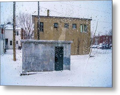 Through The Train Window Metal Print by Arkady Kunysz