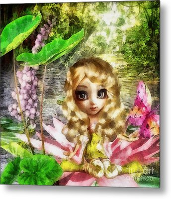 Thumbelina Metal Print by Mo T