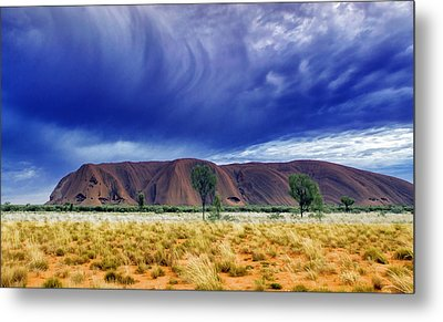 Thunder Rock Metal Print by Holly Kempe