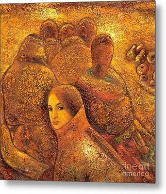 Tibet Golden Times Metal Print by Shijun Munns