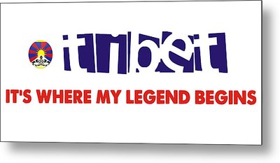 Tibet Is Where My Legend Begins Metal Print by Celestial Images