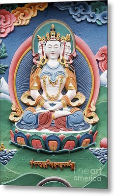 Tibetan Buddhist Temple Deity Sculpture Metal Print by Tim Gainey