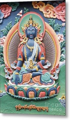 Tibetan Buddhist Temple Deity Metal Print by Tim Gainey