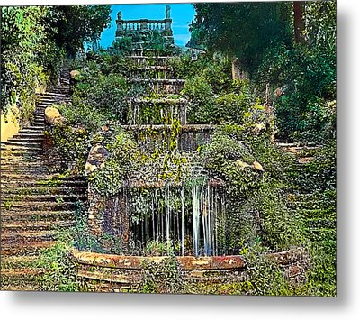 Tiered Waterfall Metal Print by Terry Reynoldson