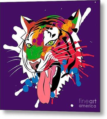 Tiger 11 Metal Print by Mark Ashkenazi