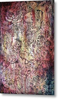 Tiger And Woman Metal Print by Kritsana Tasingh