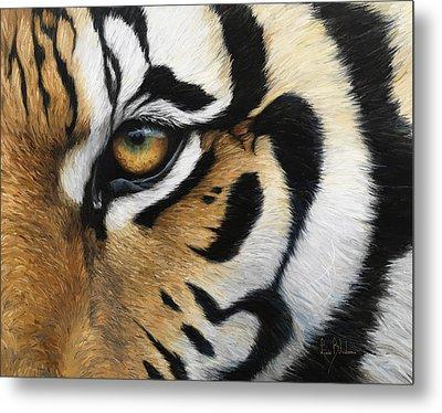 Tiger Eye Metal Print by Lucie Bilodeau
