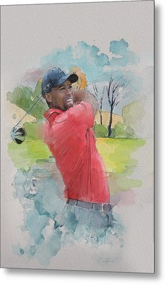 Tiger Woods Metal Print by Catf
