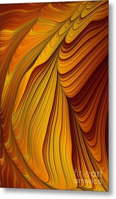 Tiger's Eye Abstract Metal Print by John Edwards