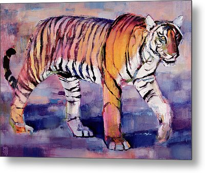 Tigress, Khana, India Metal Print by Mark Adlington