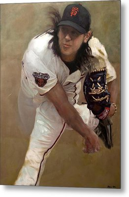 Tim Lincecum Changeup Metal Print by Darren Kerr