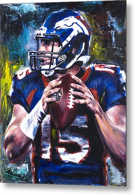 Tim Tebow Metal Print by Mark Courage