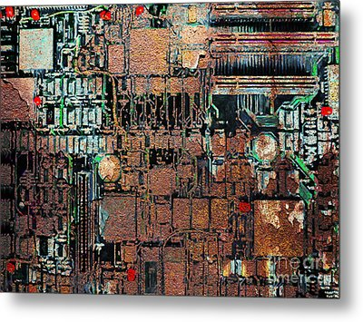 Time For A Motherboard Upgrade 20130716 Metal Print by Wingsdomain Art and Photography