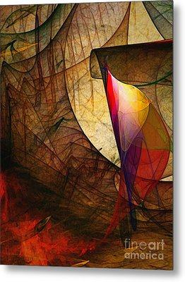 Time Fuse-abstract Art  Metal Print by Karin Kuhlmann