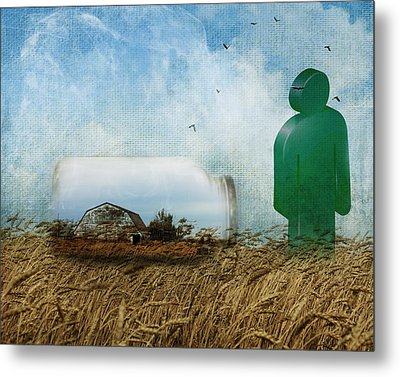 Time In A Bottle Metal Print by Terry Fleckney