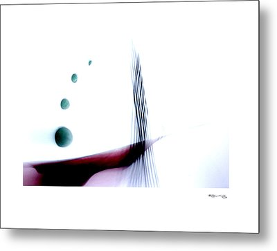 Time On A String 7 Metal Print by Xoanxo Cespon