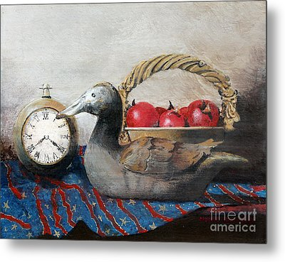 Time Passes Metal Print by Monte Toon