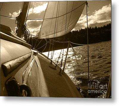 Time To Jibe  Metal Print by Kym Backland