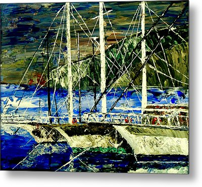 Time To Sail  Metal Print by Mark Moore
