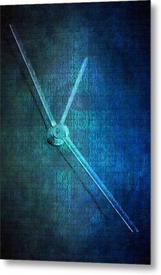 Time Metal Print by Toppart Sweden