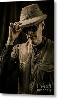Time Traveler Metal Print by Edward Fielding