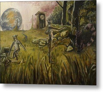 Timeless Meadow Metal Print by Robert Sage