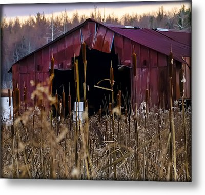 Tin Roof Rusted Metal Print by Bill Cannon