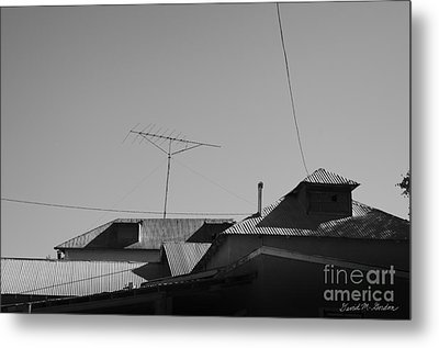 Tin Rooftops Chimayo New Mexico Metal Print by David Gordon
