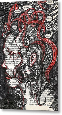 Tin Woman Metal Print by Stacey Pilkington-Smith