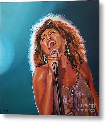 Tina Turner 3 Metal Print by Paul Meijering