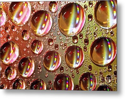 Tiny Water Beads And Spectrum Colors Metal Print by Heiko Koehrer-Wagner
