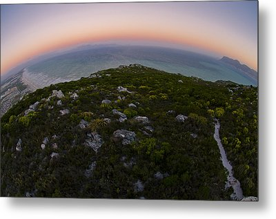 Tip Of The World Metal Print by Aaron S Bedell