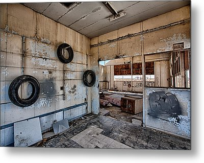 Tired Building Metal Print by Peter Tellone