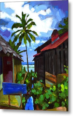 Tiririca Beach Shacks Metal Print by Douglas Simonson