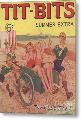 Tit-bits 1930s Uk Boy Scouts Holidays Metal Print by The Advertising Archives