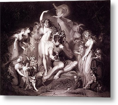 Titania, Bottom And The Fairies, Act 4 Metal Print by Henry Fuseli