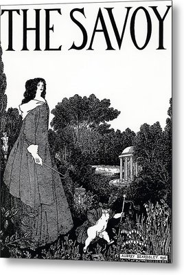 Title Page From The Savoy Metal Print by Aubrey Beardsley