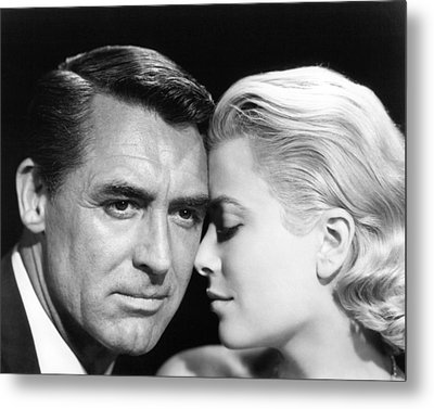 To Catch A Thief Cary Grant And Grace Kelly Metal Print by Silver Screen