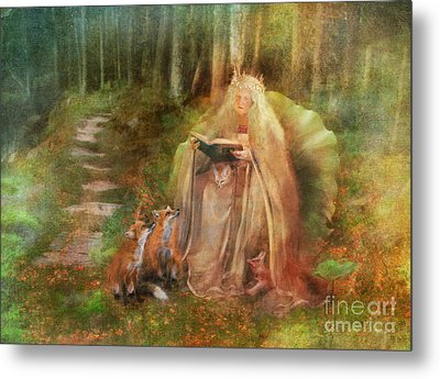 To Spin A Tale Metal Print by Aimee Stewart