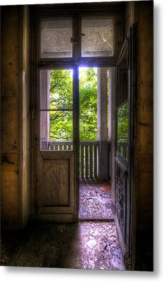 To The Balcony  Metal Print by Nathan Wright