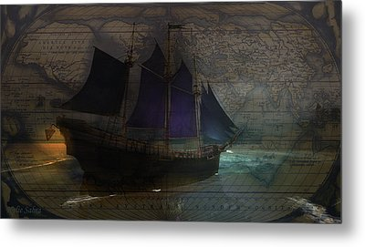 To The Ends Of The Earth Metal Print by Kylie Sabra