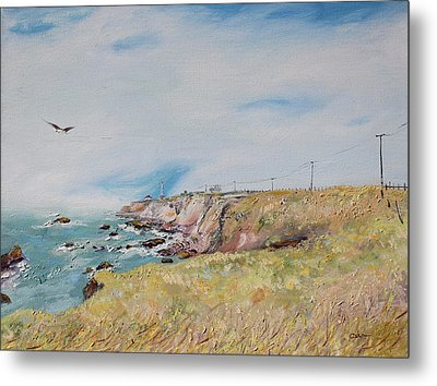 To The Lighthouse  Tribute To Virginia Woolf Metal Print by Asha Carolyn Young