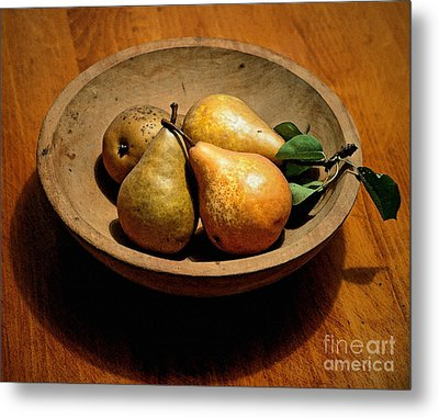 Today's Pears Metal Print by Gwyn Newcombe