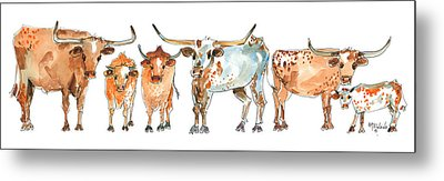 Together We Stand Watercolor Painting By Kmcelwaien Metal Print by Kathleen McElwaine