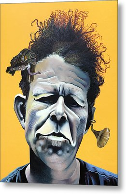 Tom Waits - He's Big In Japan Metal Print by Kelly Jade King
