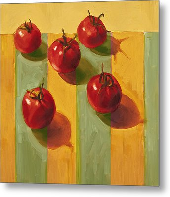 Tomatoes Metal Print by Cathy Locke